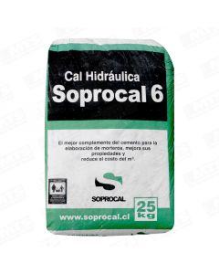 CAL HIDRAULICA SOPROCAL 6 (SACO 25 KILOS)